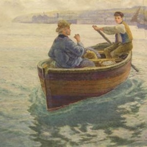 """Delivering Supplies off Newlyn, on the Cornish Coast"""