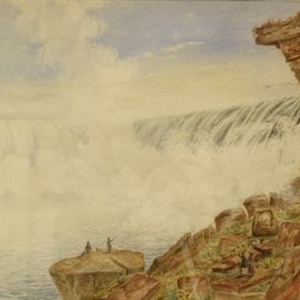"""Visitors at the Great Falls of Niagara"" c.1830"